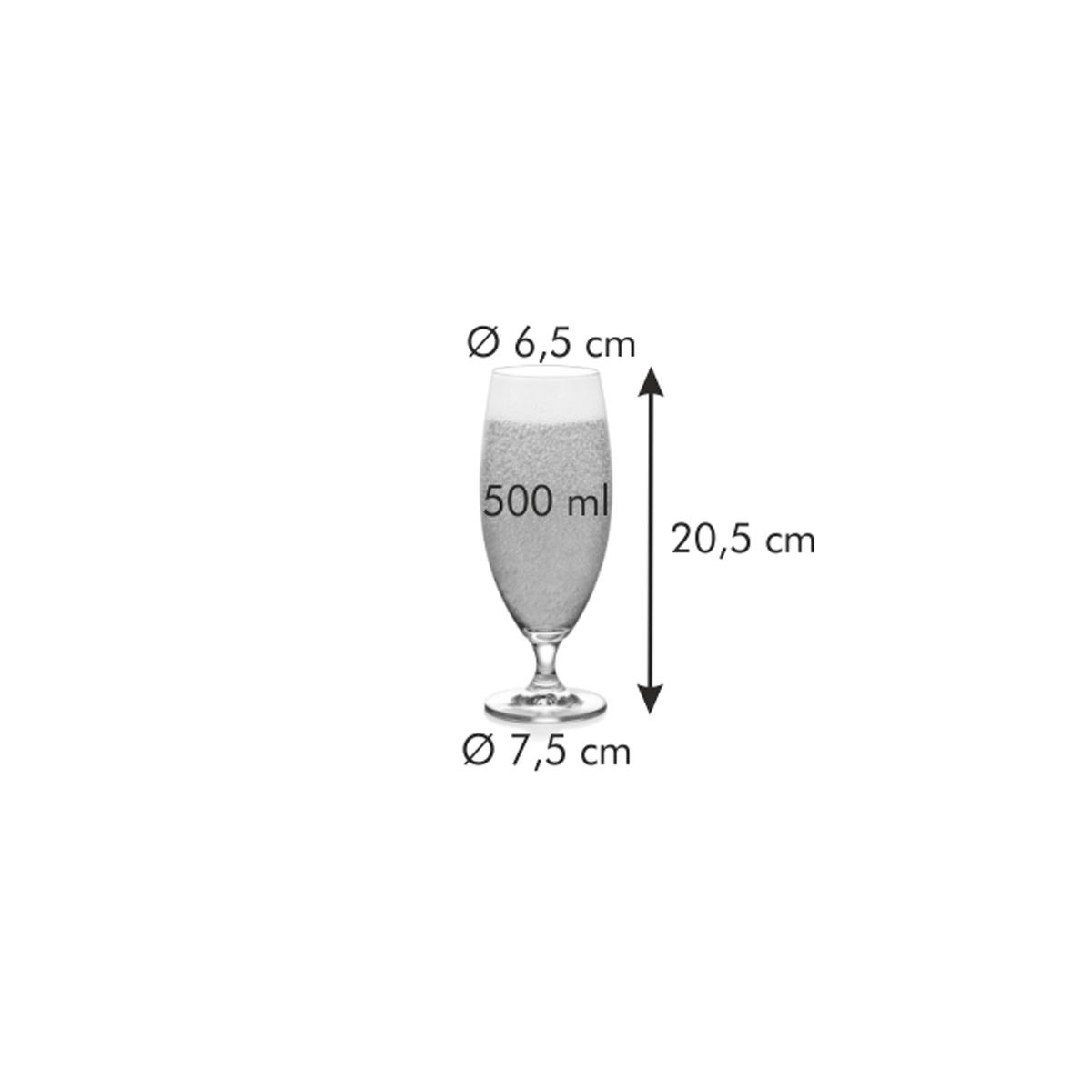 Sklenice na pivo CREMA 500 ml