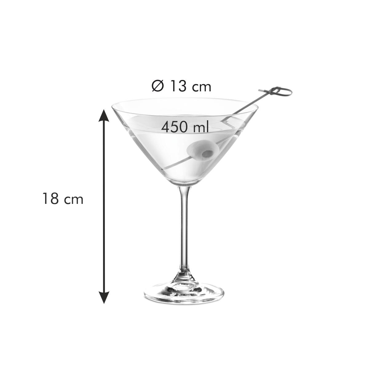 Sklenice na martini CHARLIE 450 ml