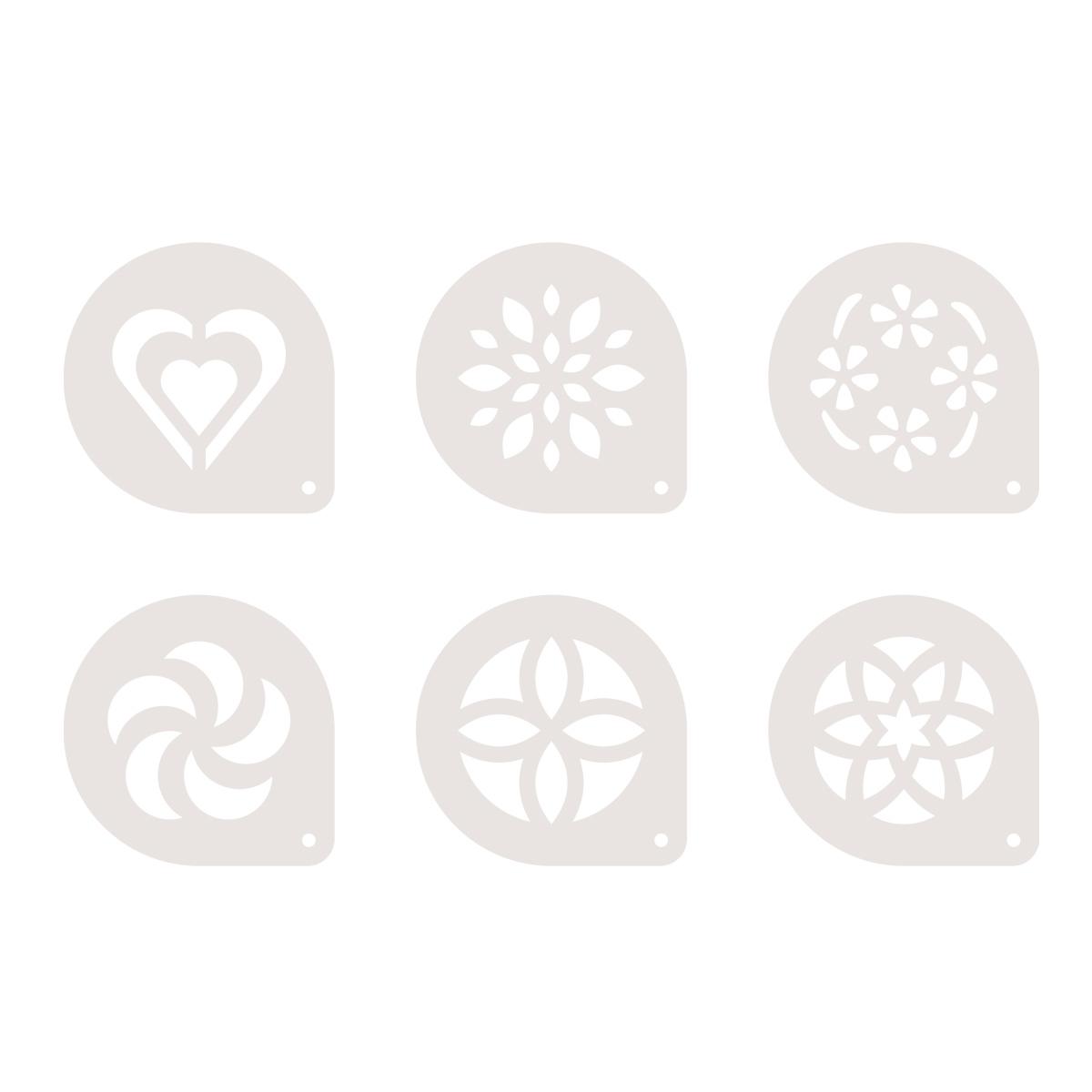 Šablony na cappuccino myDRINK, 6 ks