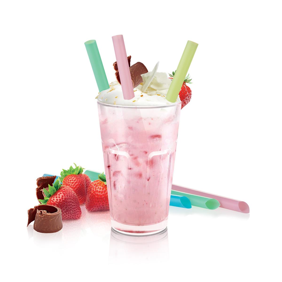 Slámky myDRINK, na jogurtové nápoje, 12 ks
