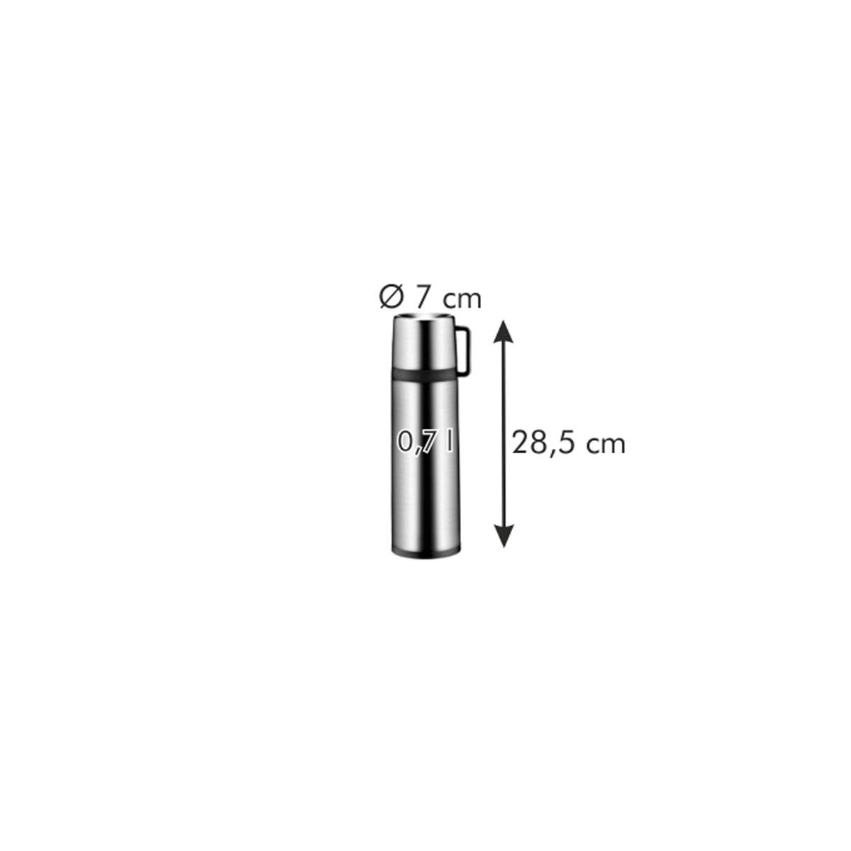 Termoska s hrníčkem CONSTANT 0,7 l, nerez