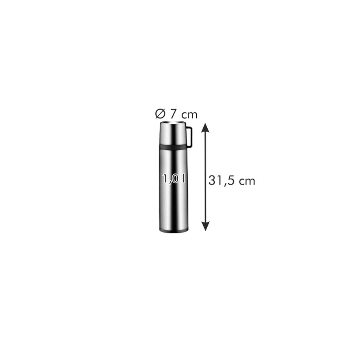 Termoska s hrníčkem CONSTANT 1,0 l, nerez