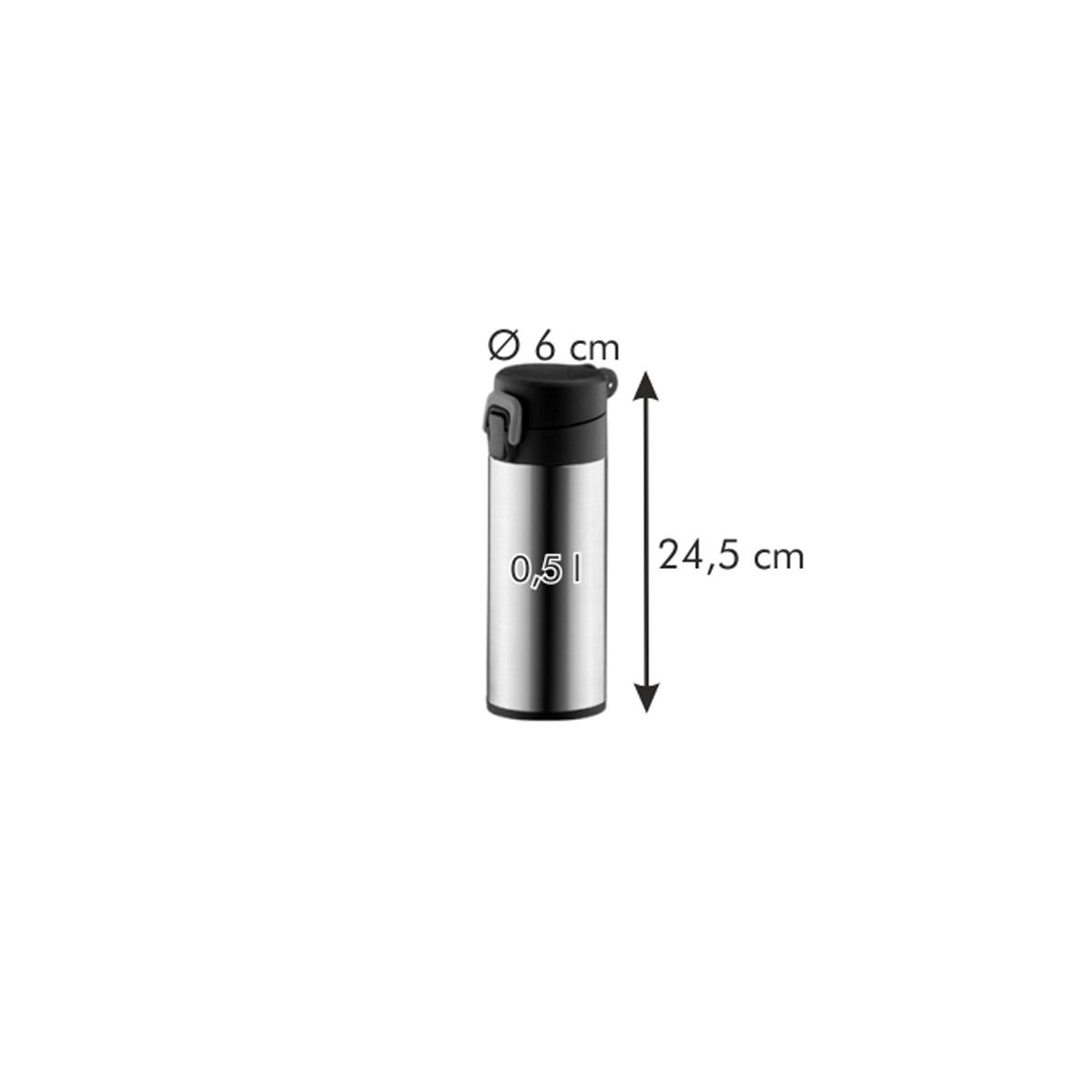 Sport termoska se zámkem CONSTANT 0,5 l, nerez