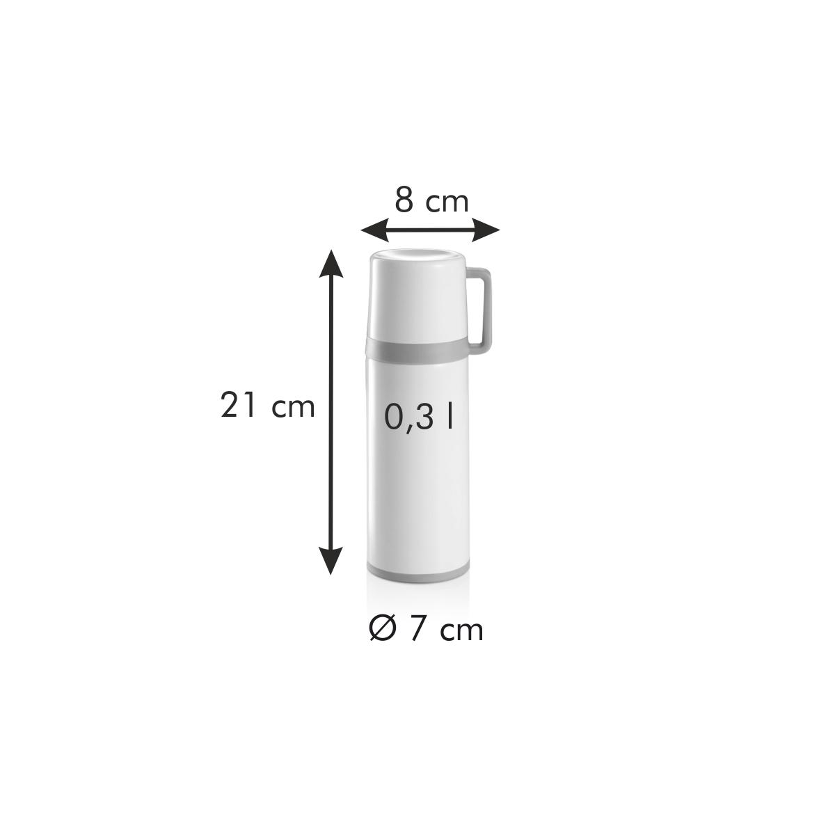 Termoska s hrníčkem CONSTANT CREAM 0,3 l, nerez