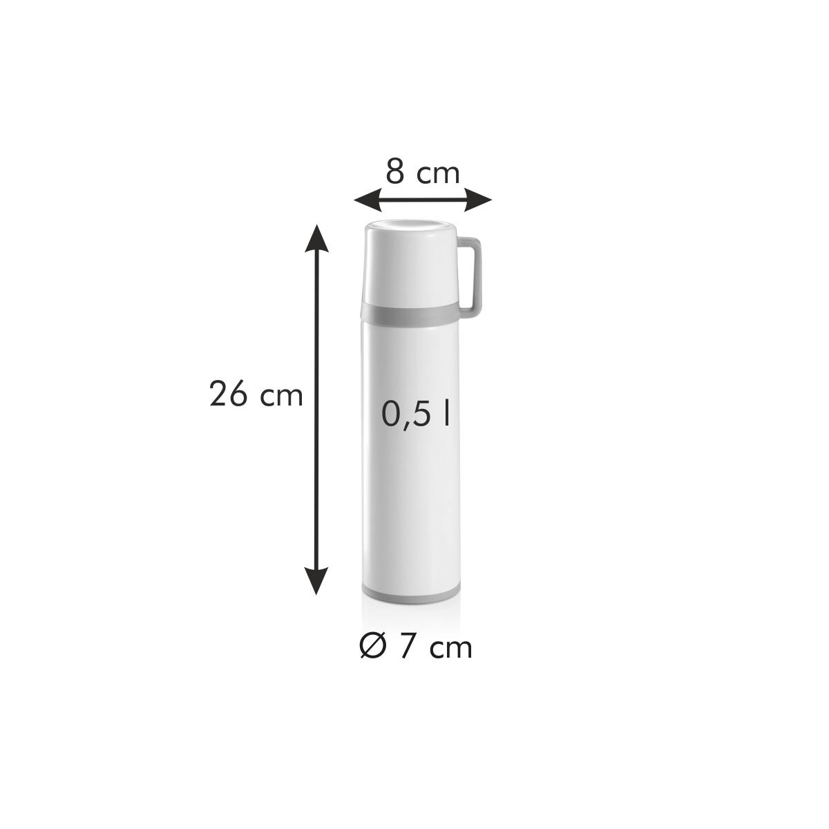 Termoska s hrníčkem CONSTANT CREAM 0,5 l, nerez