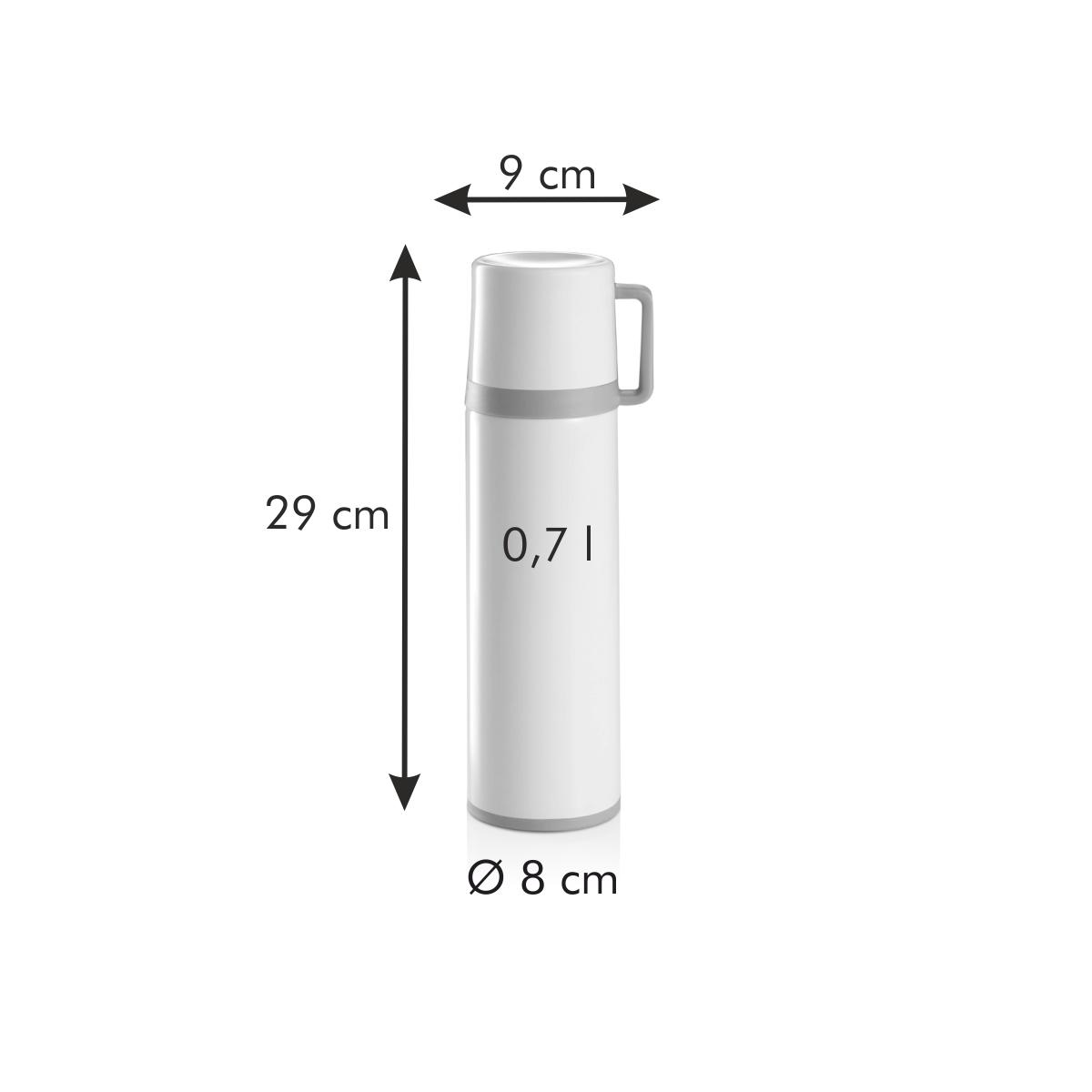 Termoska s hrníčkem CONSTANT CREAM 0,7 l, nerez