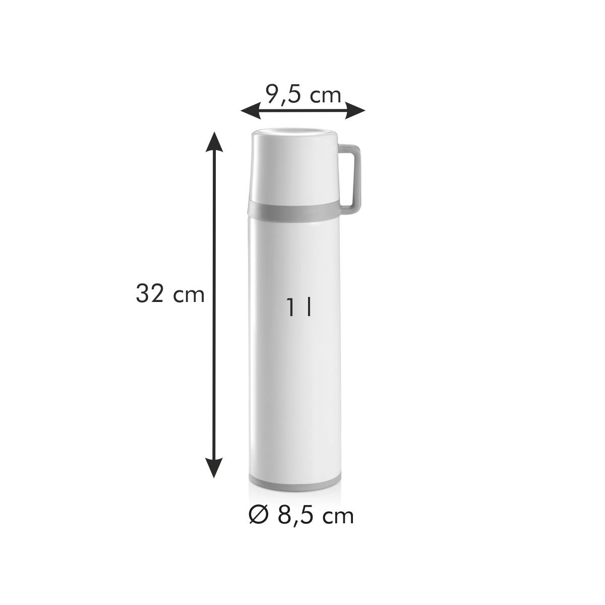 Termoska s hrníčkem CONSTANT CREAM 1,0 l, nerez