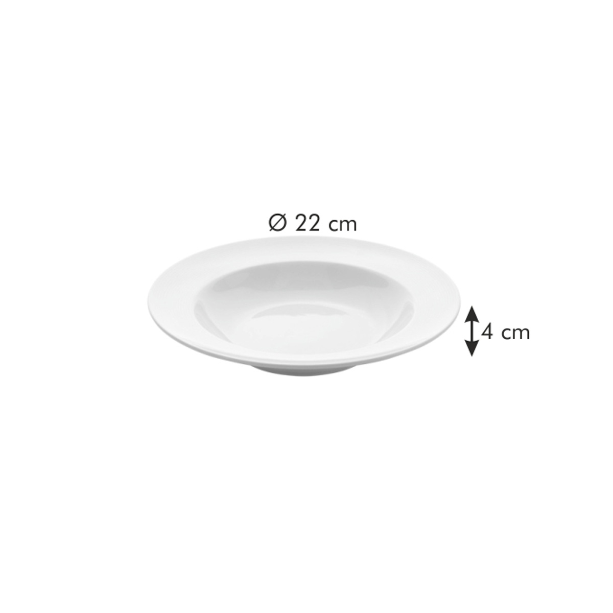 Hluboký talíř OPUS STRIPES  ø 22 cm