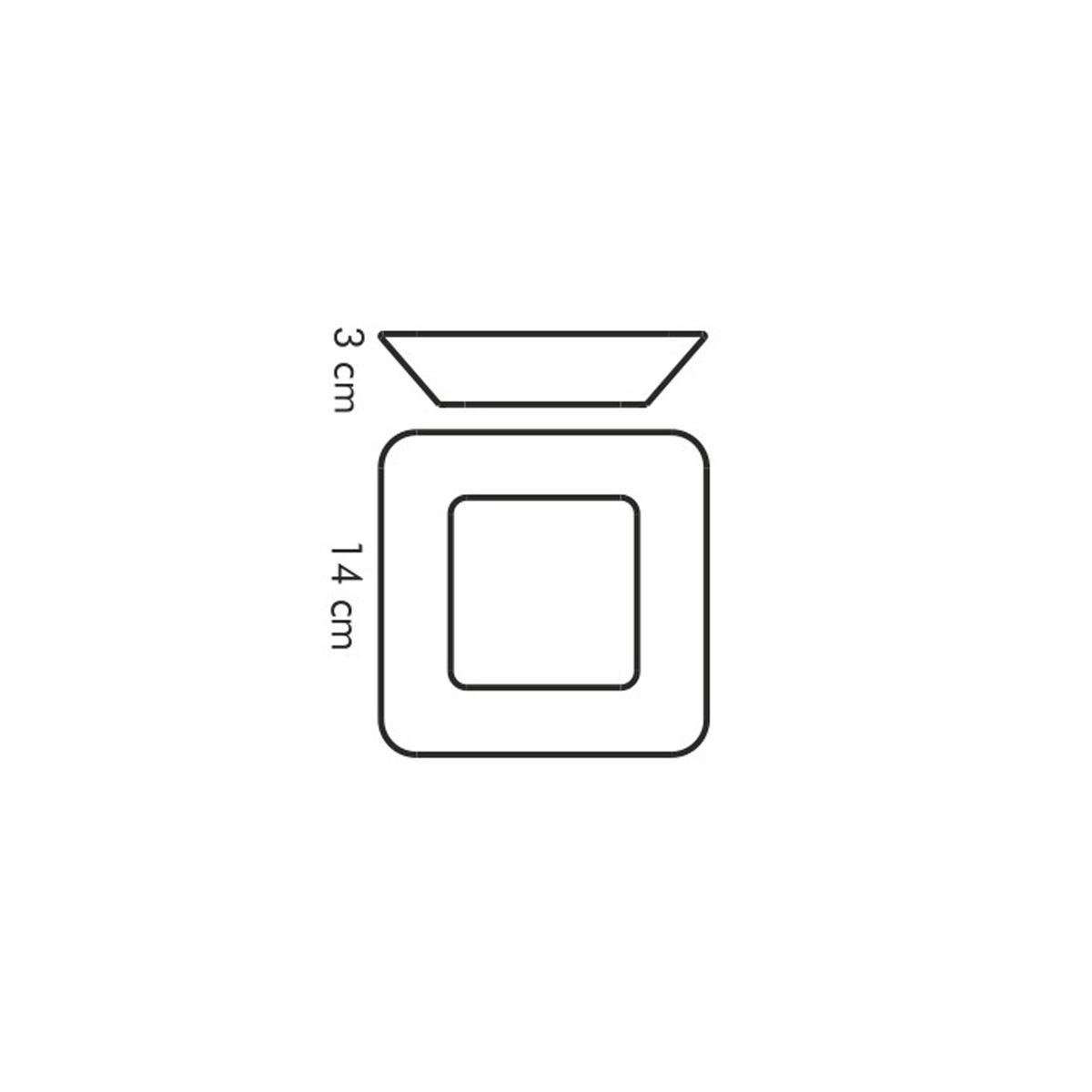 Miska čtvercová GUSTITO 14x14 cm