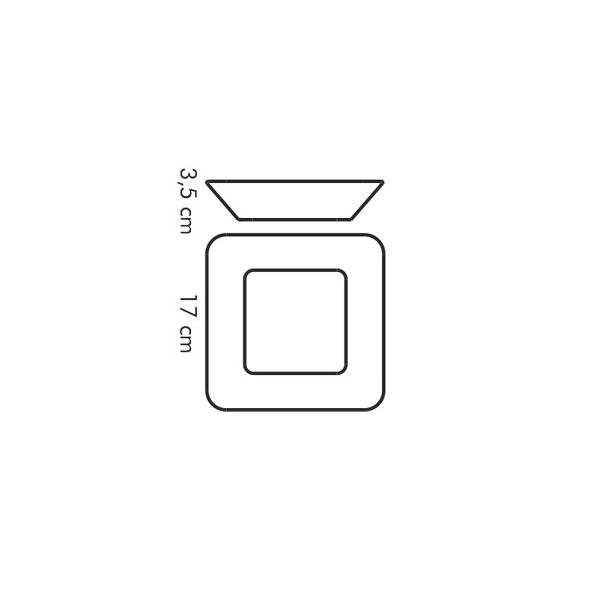 Miska čtvercová GUSTITO 17x17 cm