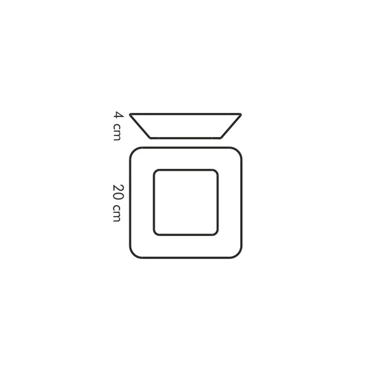 Miska čtvercová GUSTITO 20x20 cm