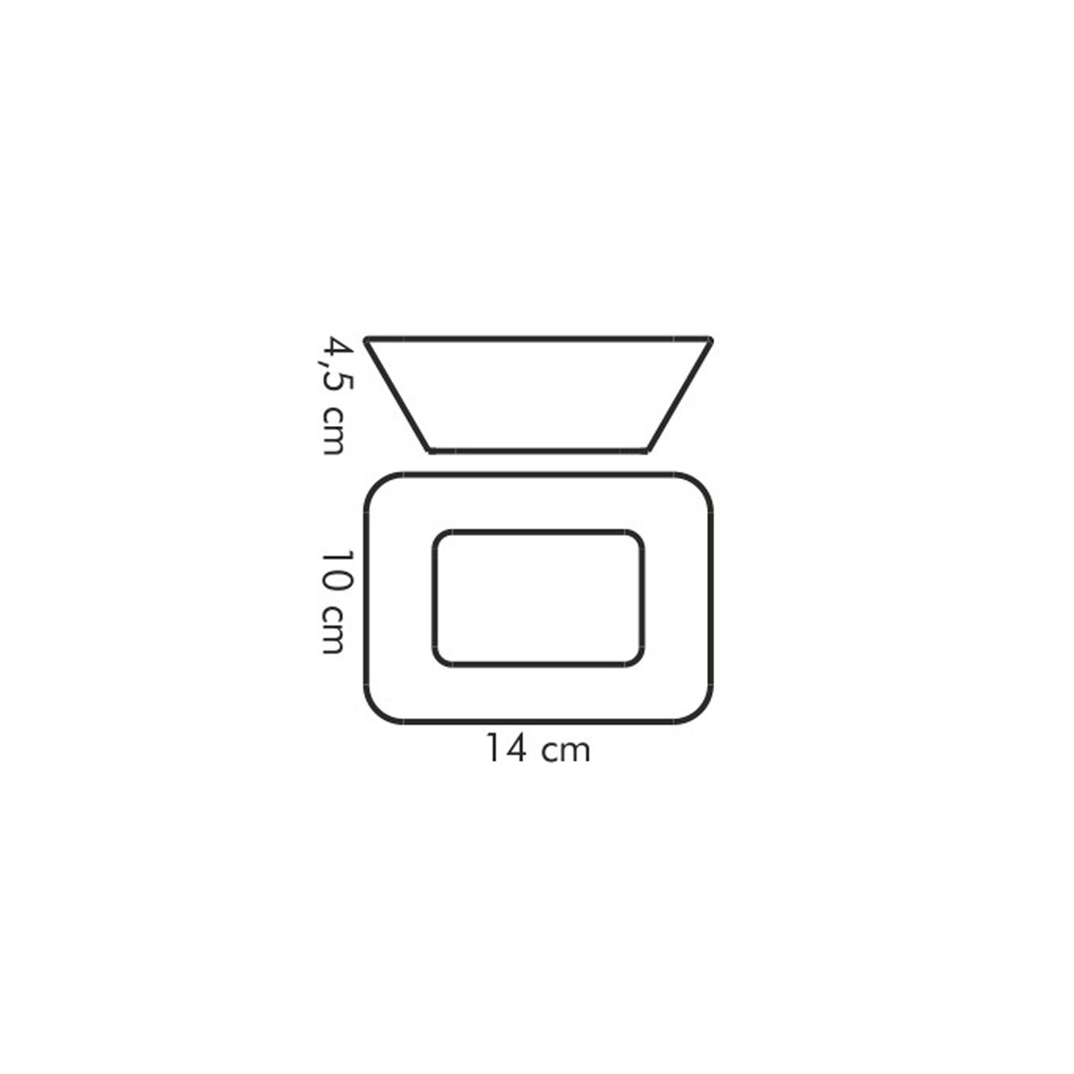 Miska na kompot GUSTITO 14x10 cm
