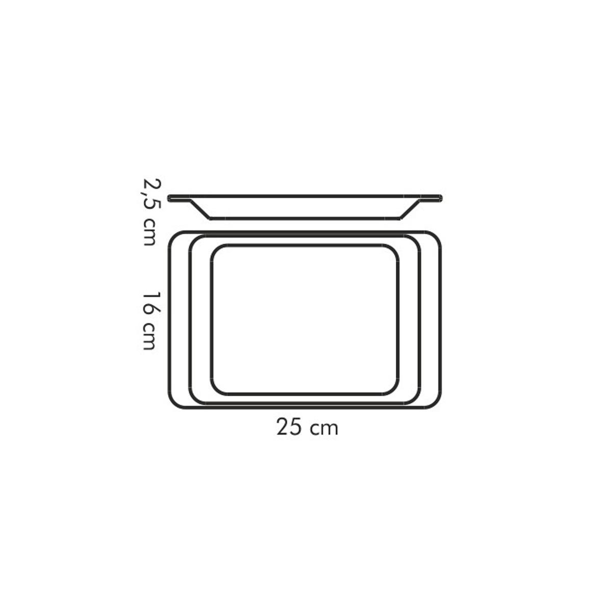 Podnos servírovací GUSTITO 25x16 cm