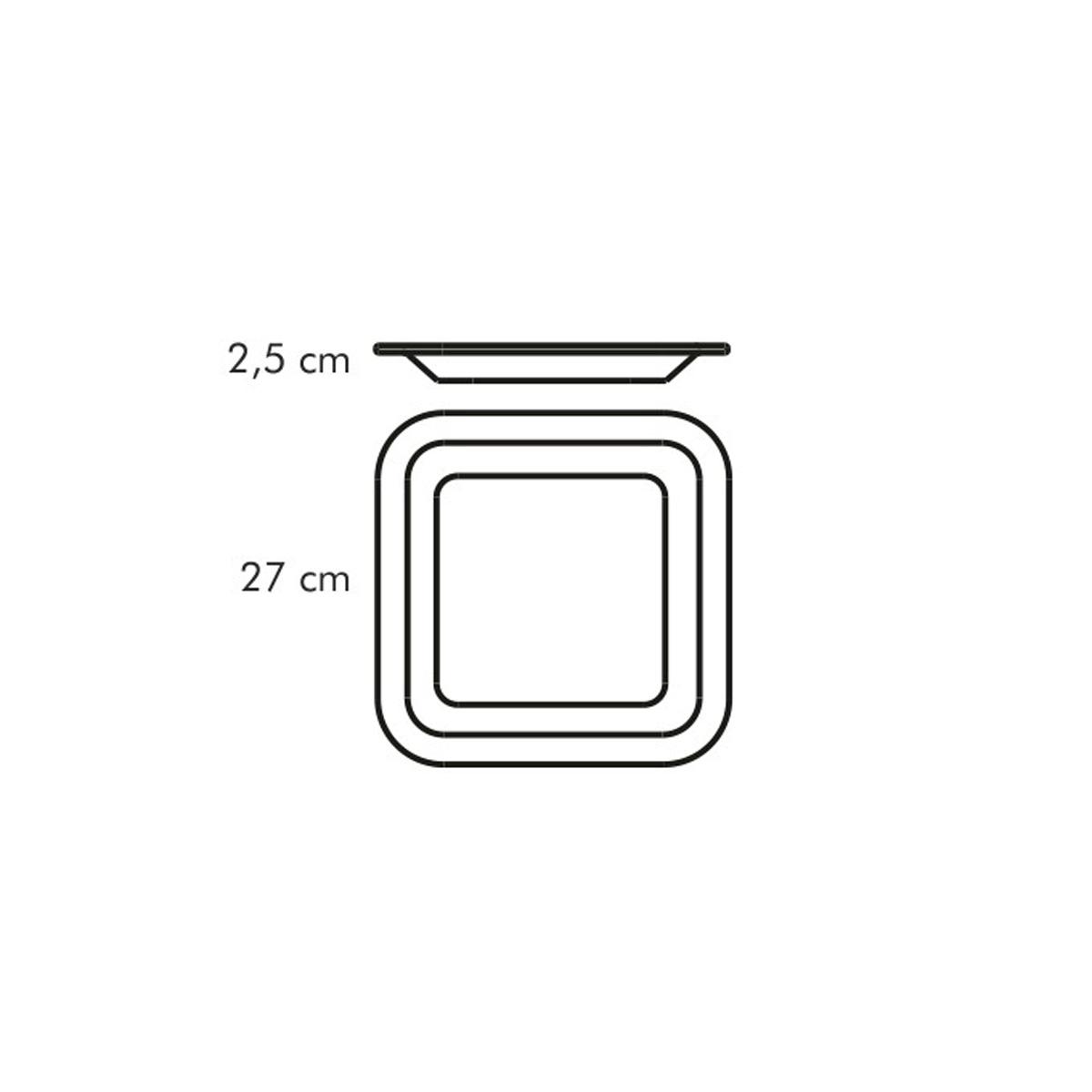 Mělký talíř GUSTITO 27x27 cm