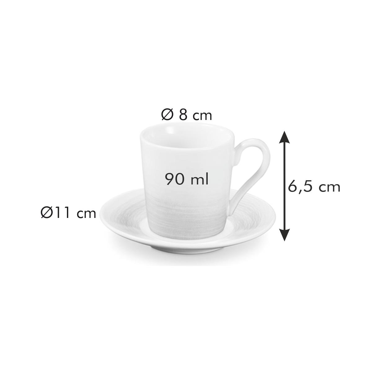 Šálek na espresso s podšálkem myCOFFEE, 6 ks, Pastels