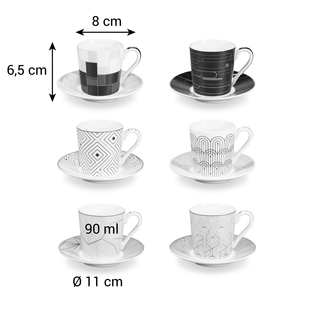 Šálek na espresso s podšálkem myCOFFEE, 6 ks, Infinity