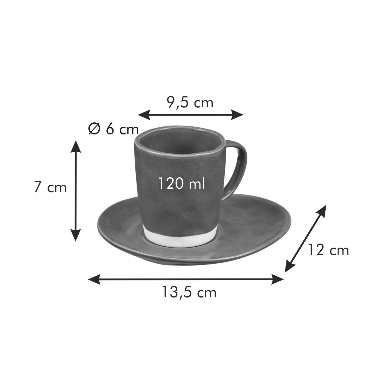 Šálek na espresso LIVING, s podšálkem