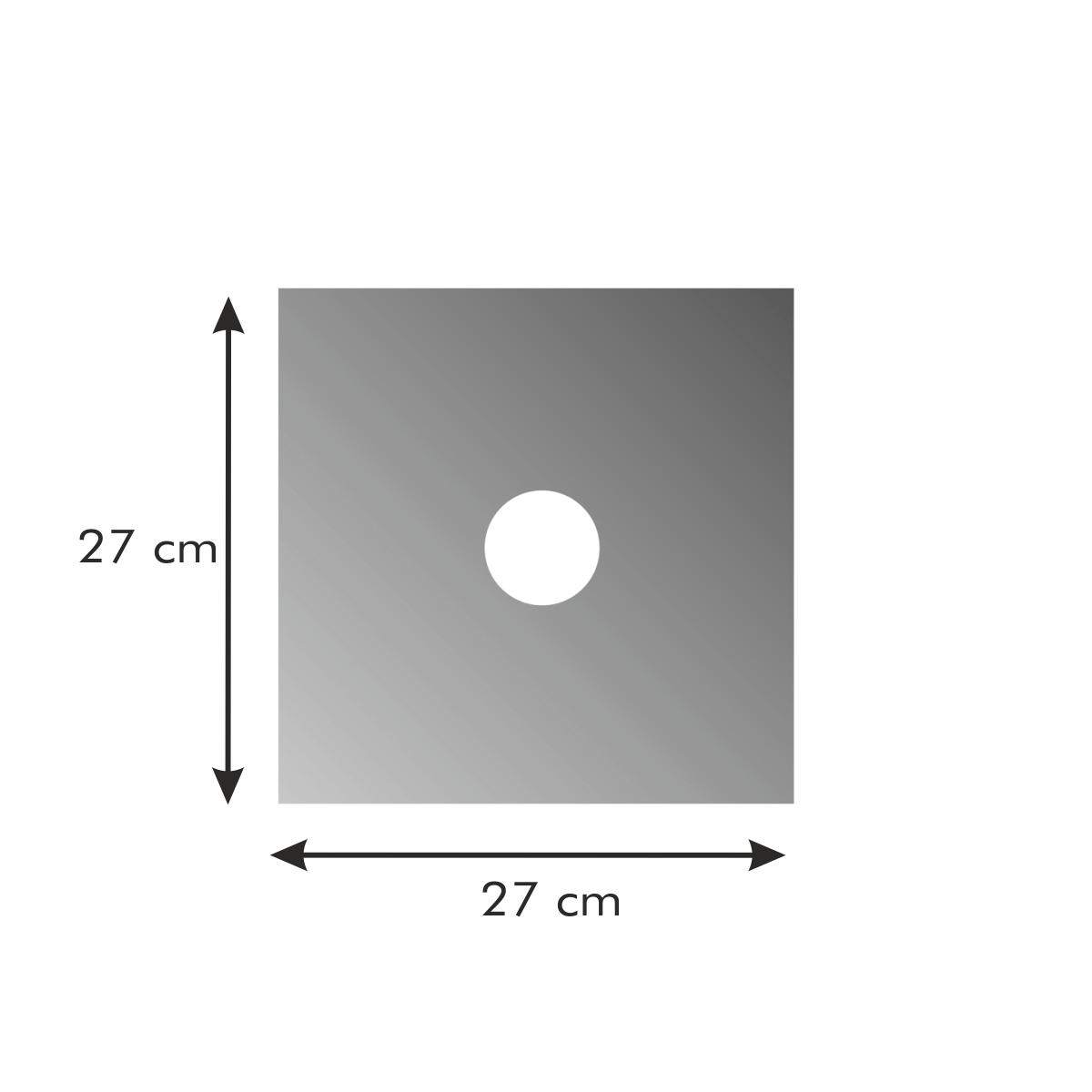 Ochranná podložka na plynové sporáky PRESTO 27 x 27 cm, 4 ks