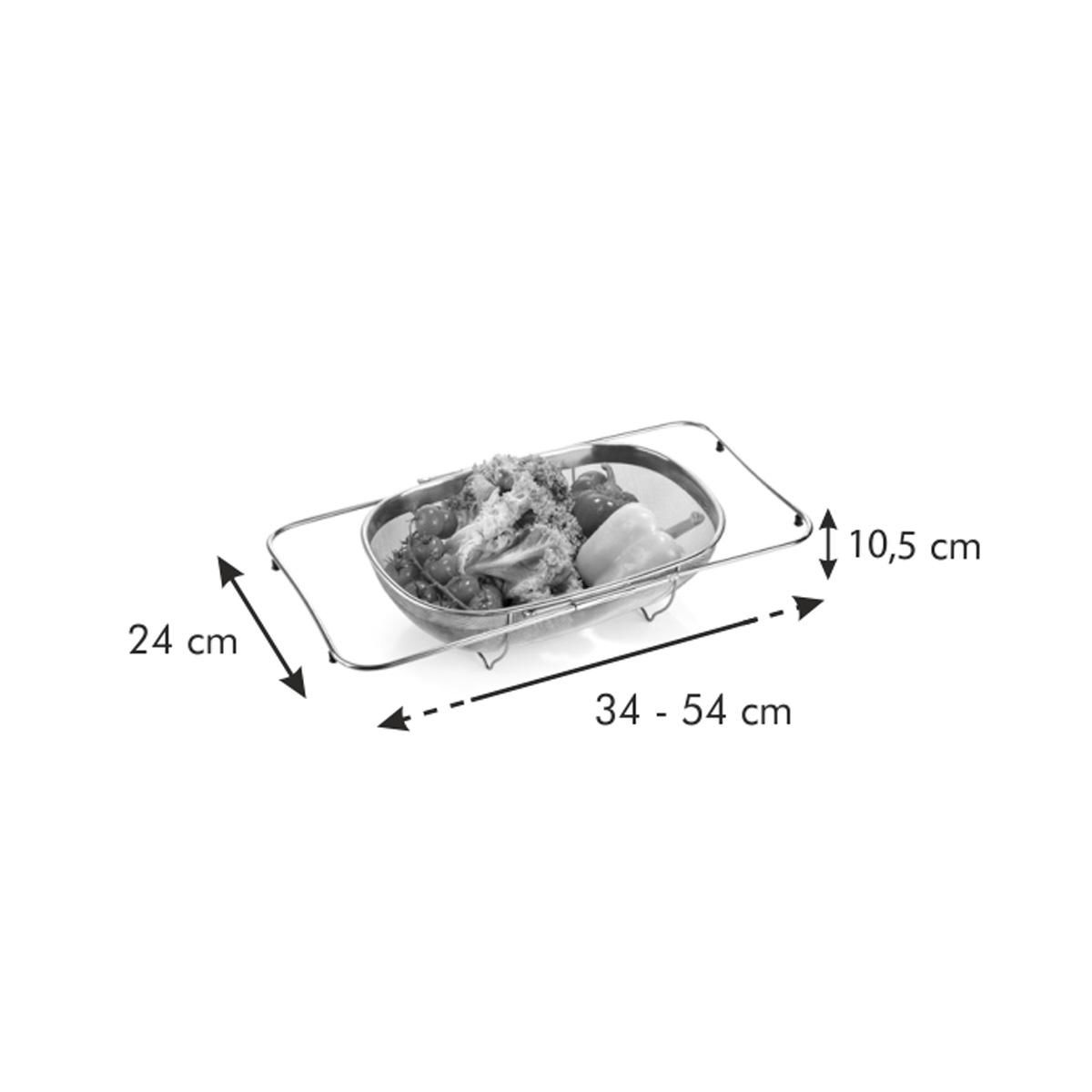 Nastavitelný koš na cezení GrandCHEF 34x24 cm