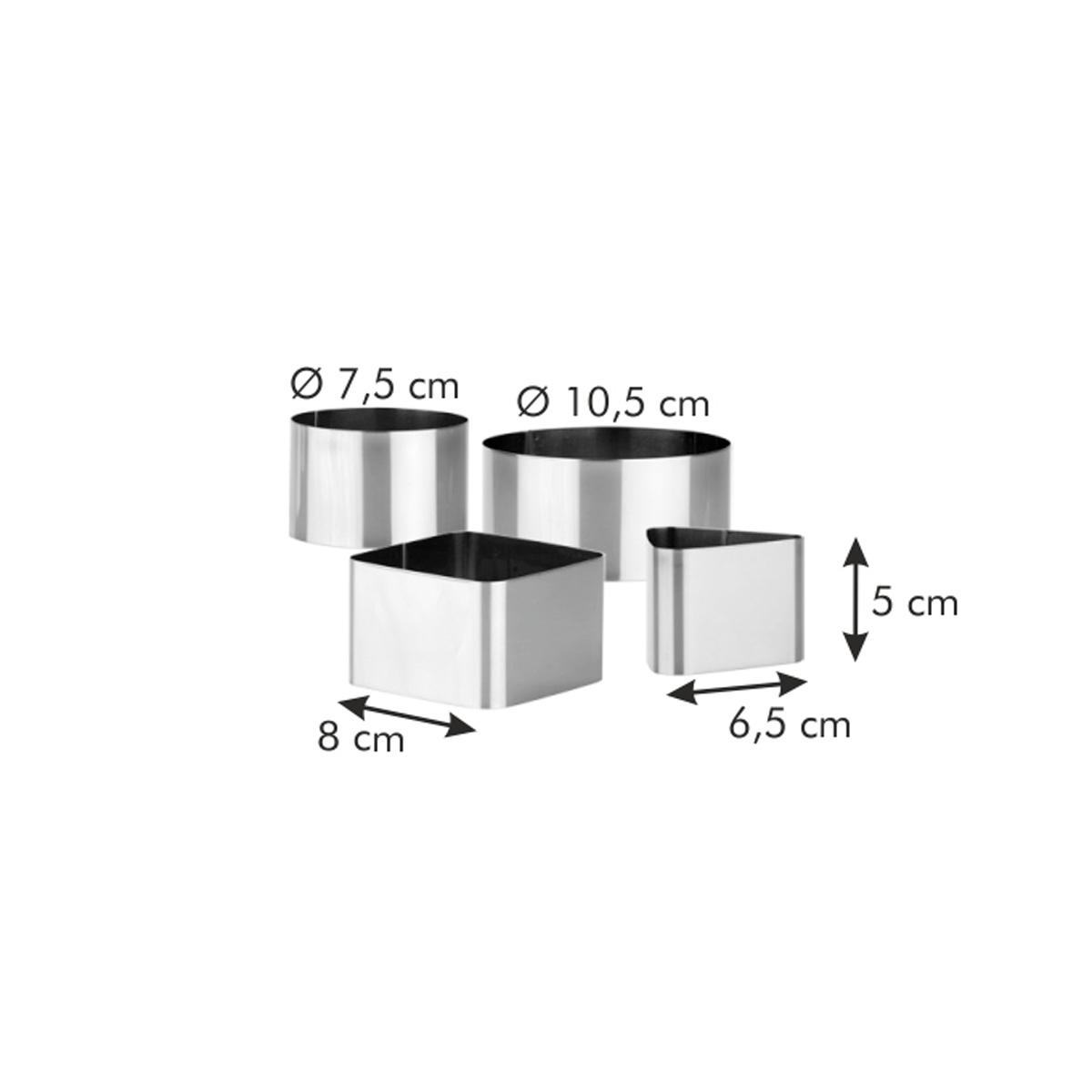 Formičky pro tvarování pokrmů GrandCHEF, 4 ks