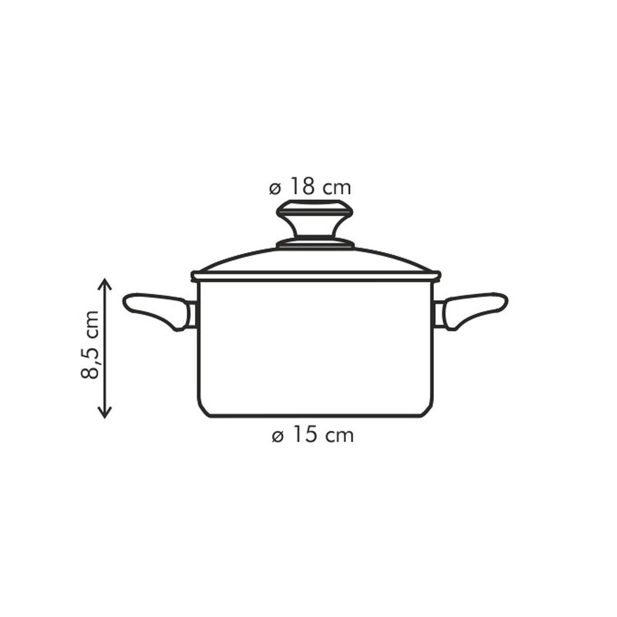 Kastrol PRESTO s poklicí ø 18 cm, 2.0 l, antiadhezní povlak
