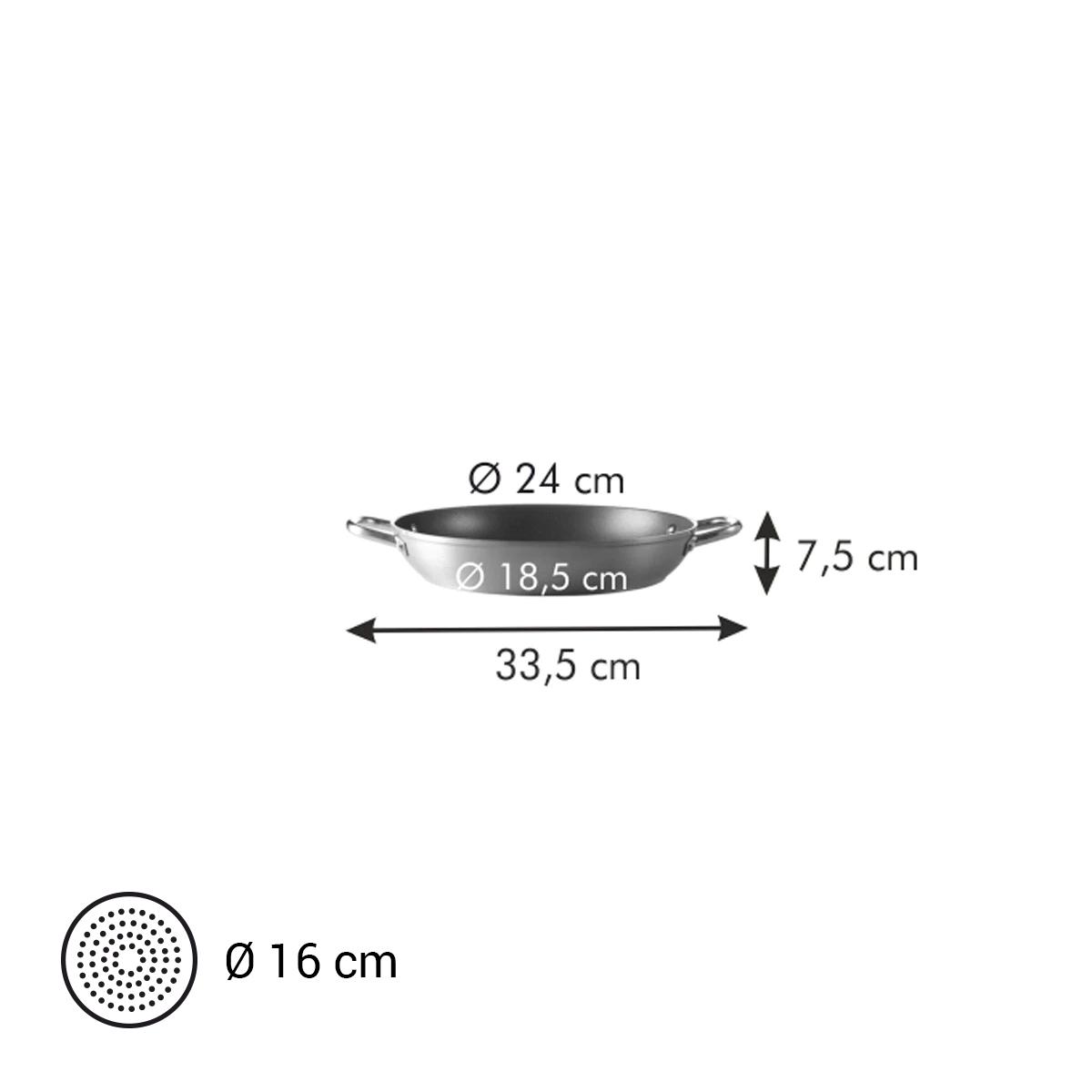Pánev hluboká GrandCHEF ø 24 cm, 2 úchyty