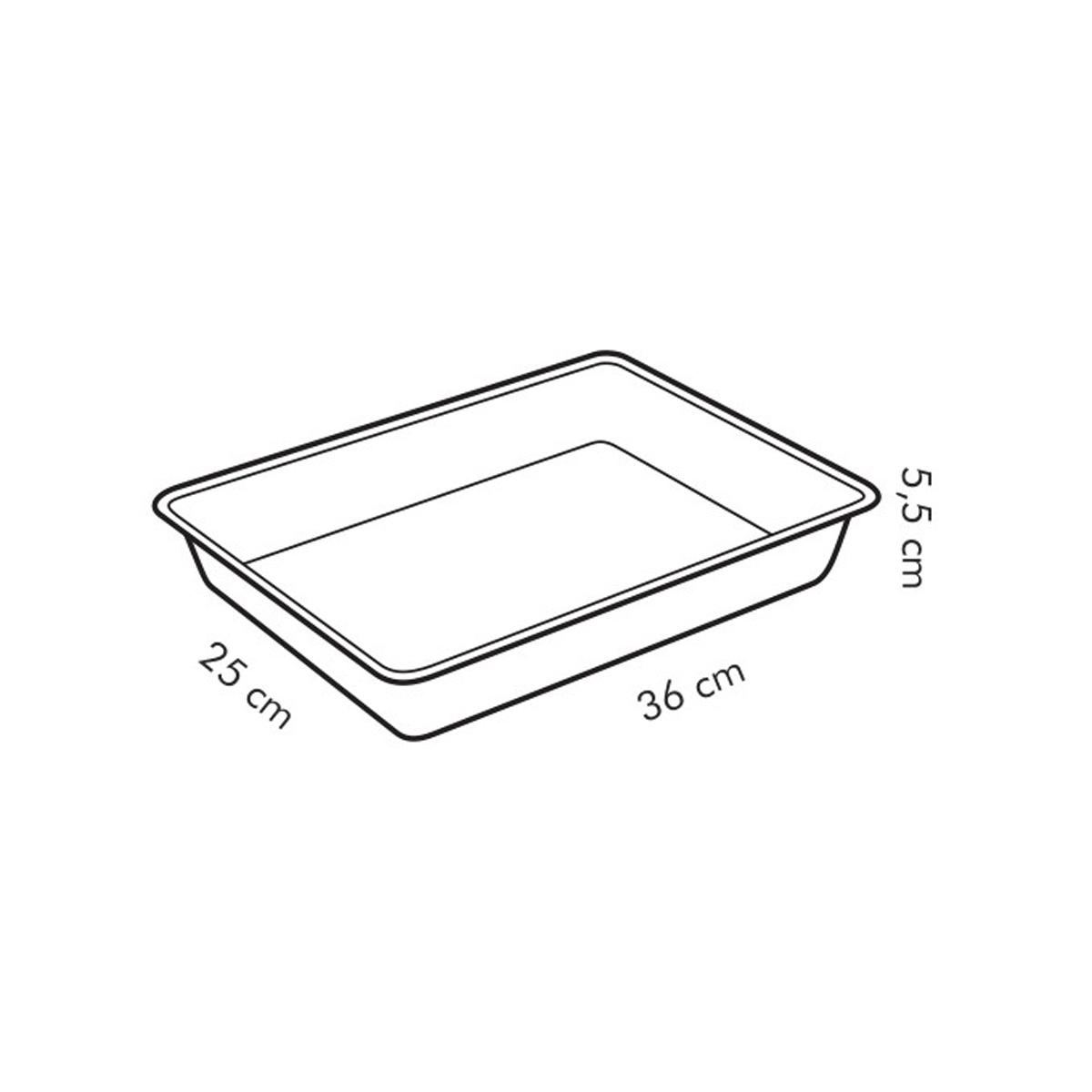 Plech na pečení hluboký s plastovým poklopem DELÍCIA 36x25 cm