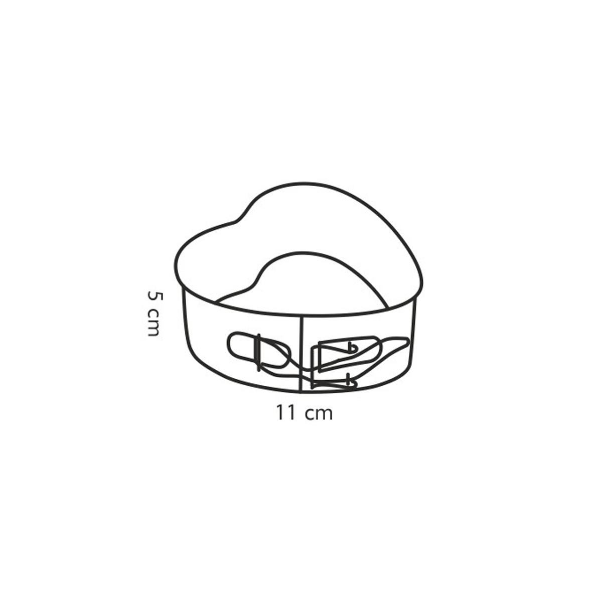 Forma srdcová rozkládací DELÍCIA 11x11cm