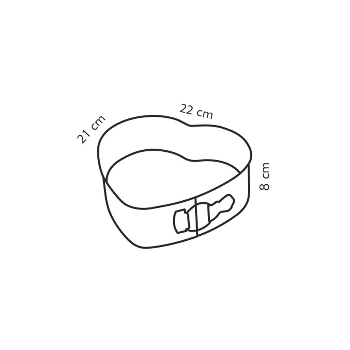 Forma srdcová rozkládací DELÍCIA 22x21 cm
