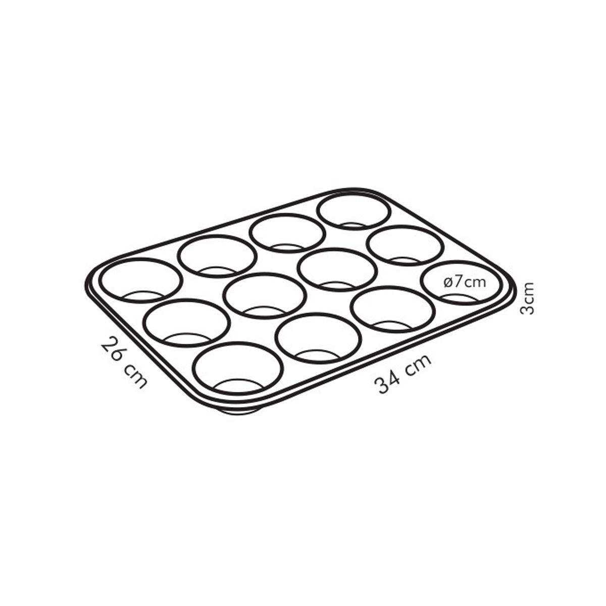 Forma 12 muffinů DELÍCIA 34x26 cm
