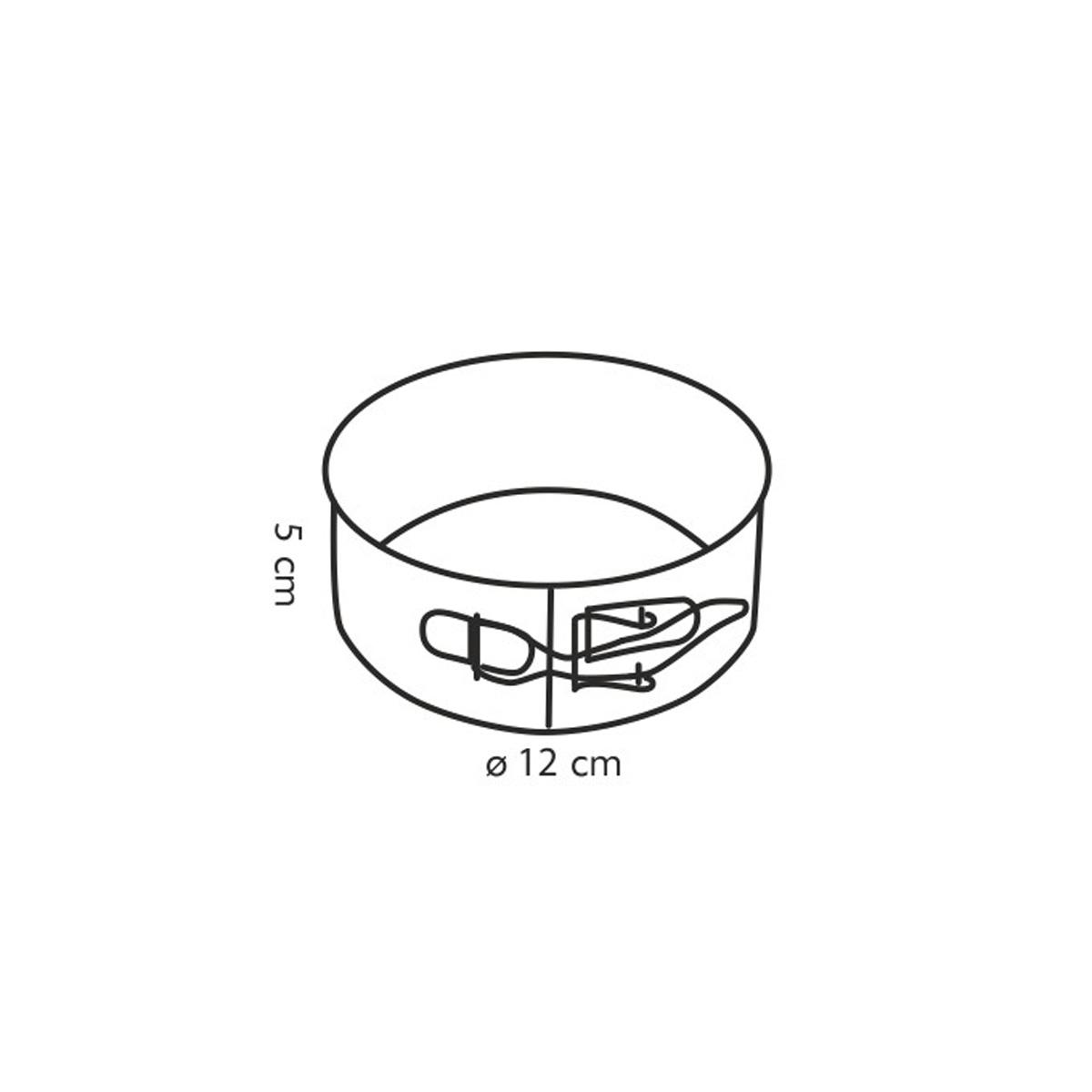 Forma na dort rozkládací DELÍCIA ø 12 cm