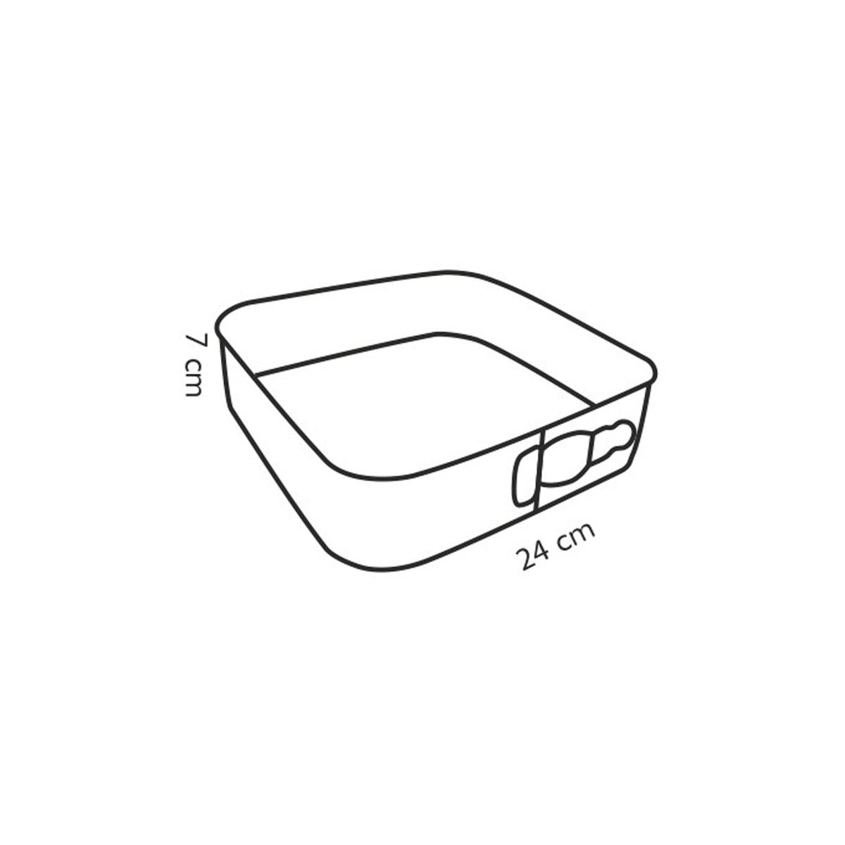 Forma na dort rozkládací čtvercová DELÍCIA 24x24 cm