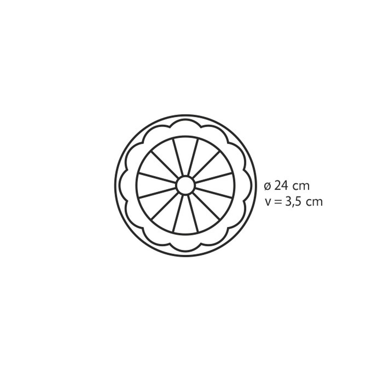 Forma na koláč dortík DELÍCIA SILICONE ø 24 cm
