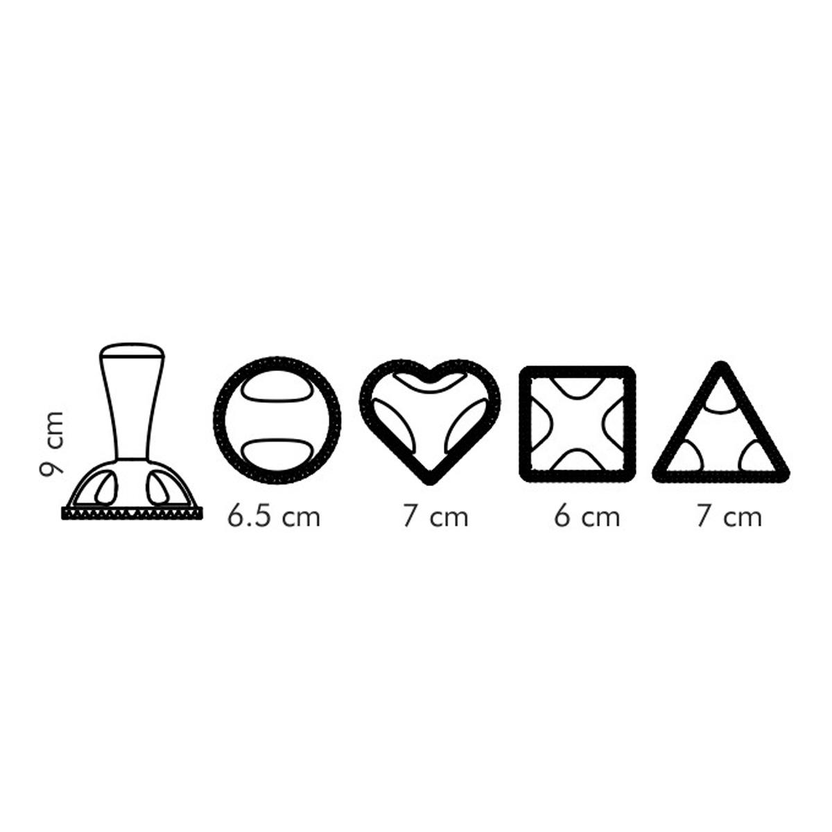 Tvořítka na ravioli DELÍCIA, 4 tvary