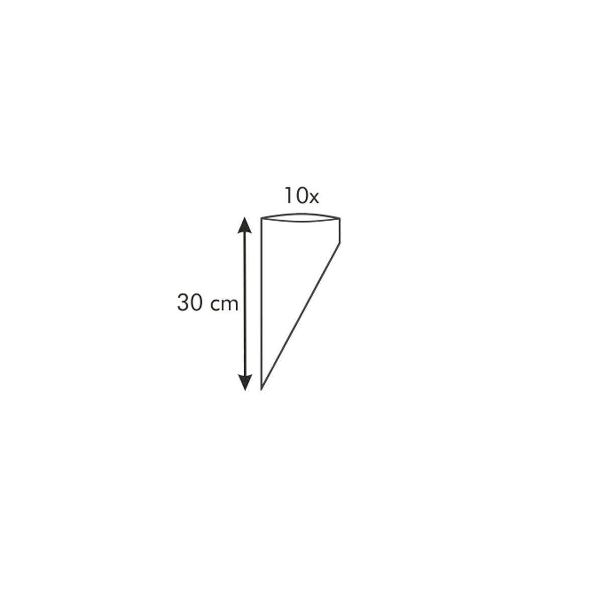 Zdobicí sáček DELÍCIA 30 cm, 10 ks, 6 trysek