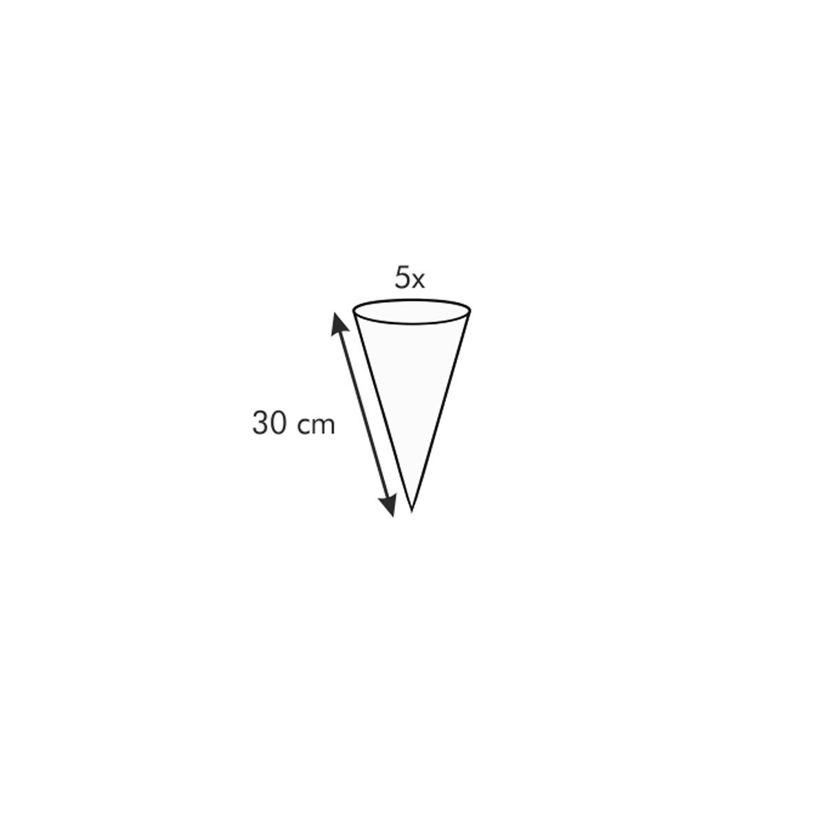 Zdobicí sáček s mini tryskou DELÍCIA 30 cm, 5 ks