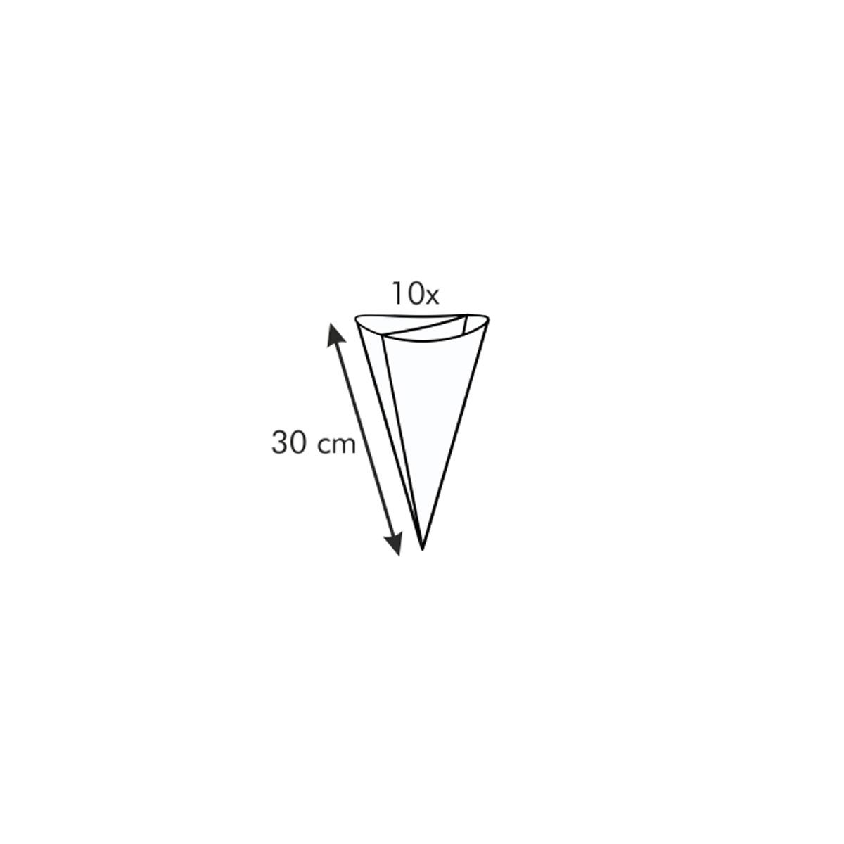 Zdobicí sáček dvojitý DELÍCIA 30 cm, 10 ks