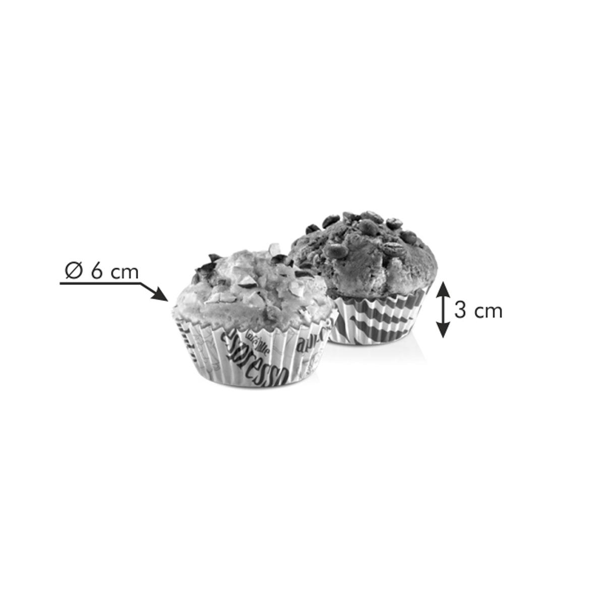 Cukrářské košíčky DELÍCIA ø 6 cm, 60 ks, ke kávě