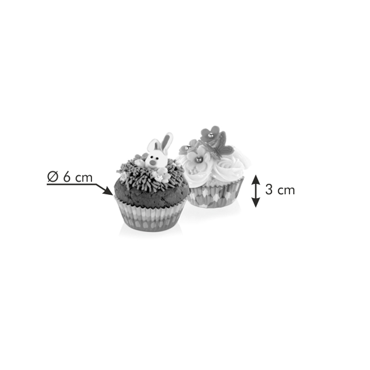Cukrářské košíčky DELÍCIA ø 6 cm, 60 ks, jarní