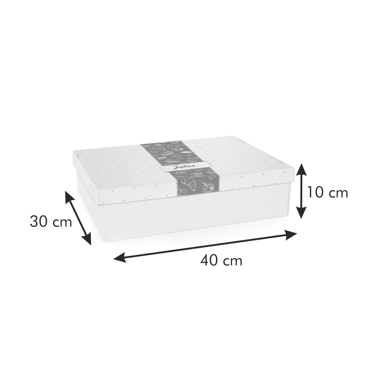 Krabice na cukroví a lahůdky DELÍCIA, 40 x 30 cm