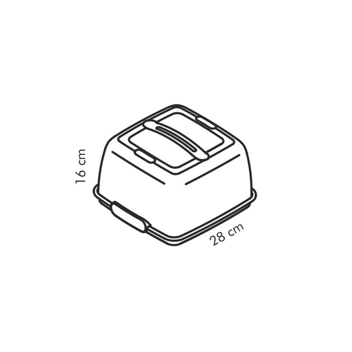 Chladicí podnos s poklopem DELÍCIA 28x28 cm