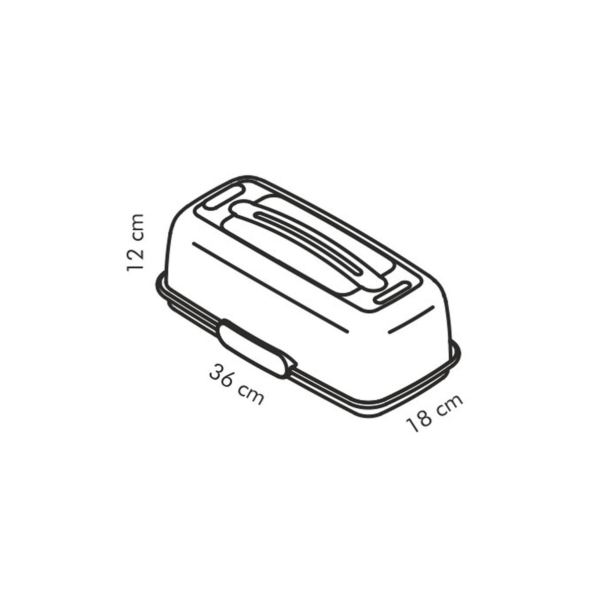 Chladicí podnos s poklopem DELÍCIA 36x18 cm