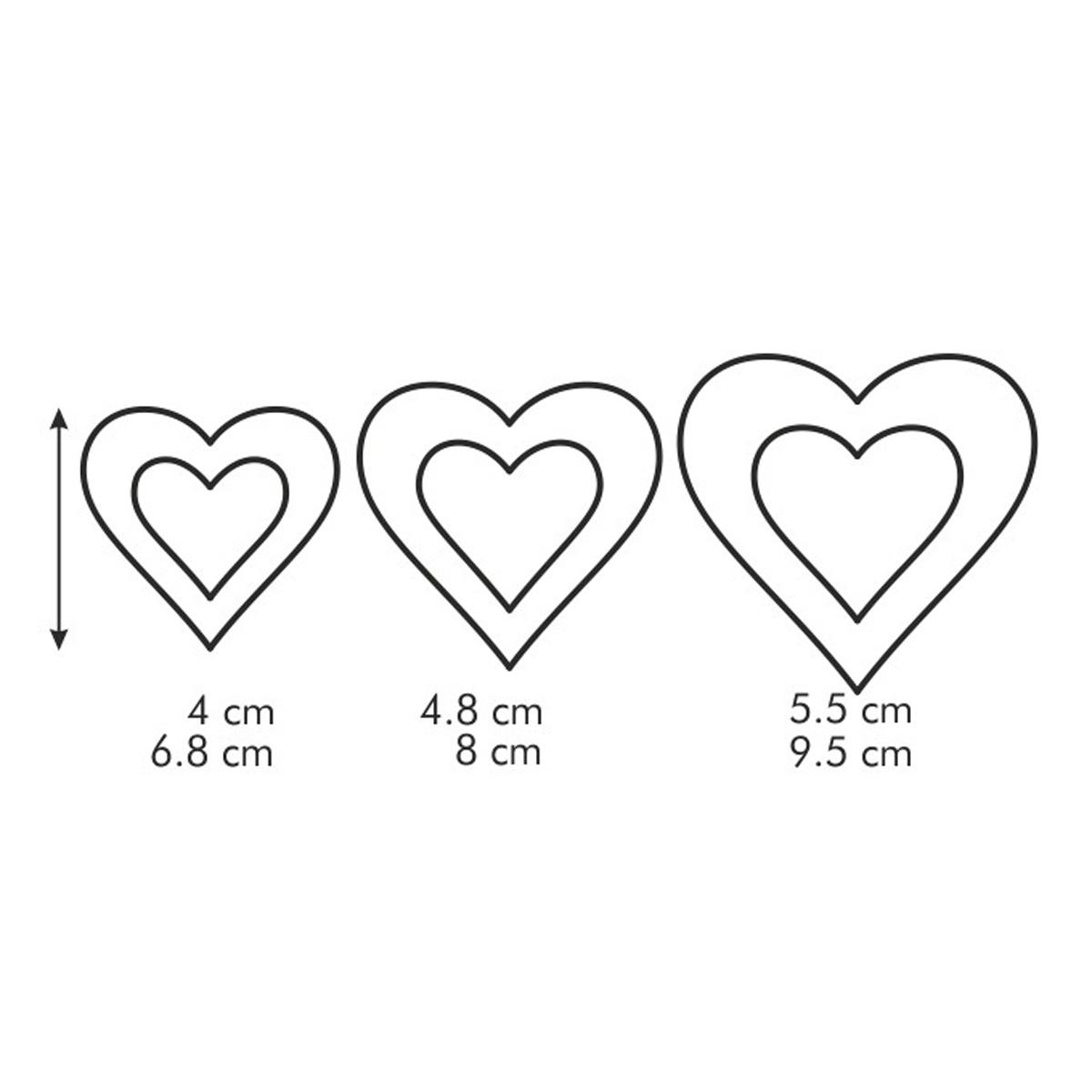 Oboustranná vykrajovátka srdce DELÍCIA  6 velikostí