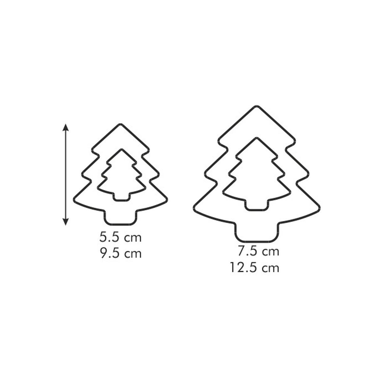 Oboustranná vykrajovátka stromečky DELÍCIA, 4 velikosti