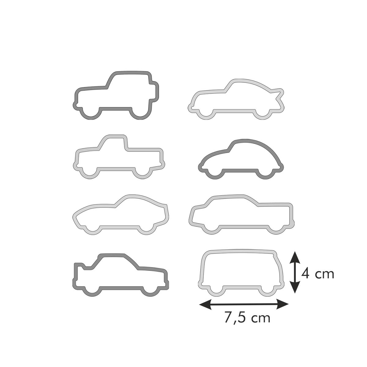 Vykrajovátka autíčka DELÍCIA KIDS, 8 ks