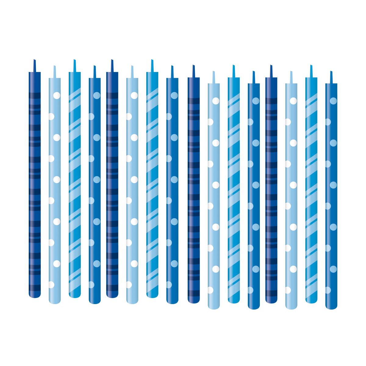 Dortové svíčky DELÍCIA KIDS 12 cm, 16 ks