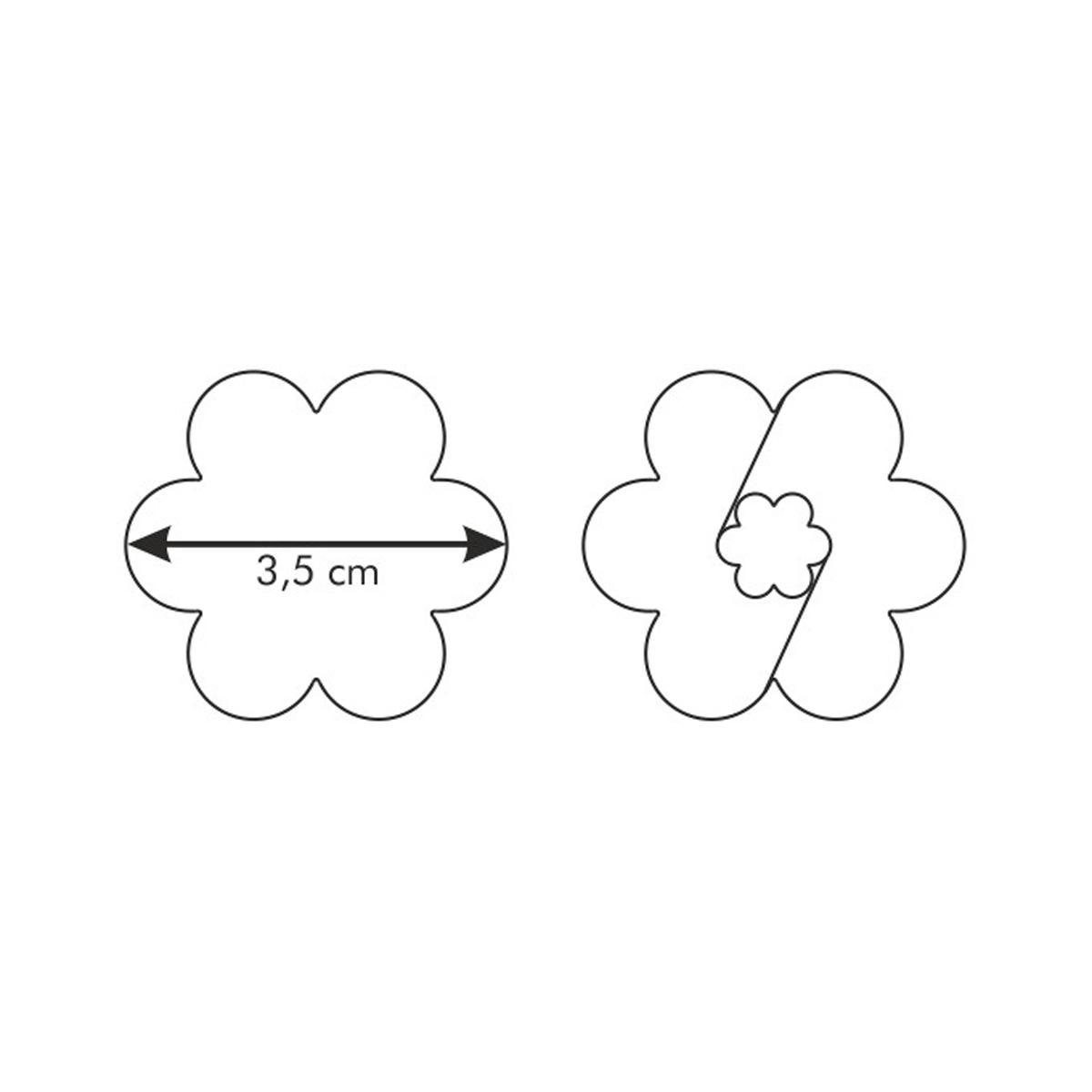 Linecká kytička DELÍCIA ø 4.0 cm