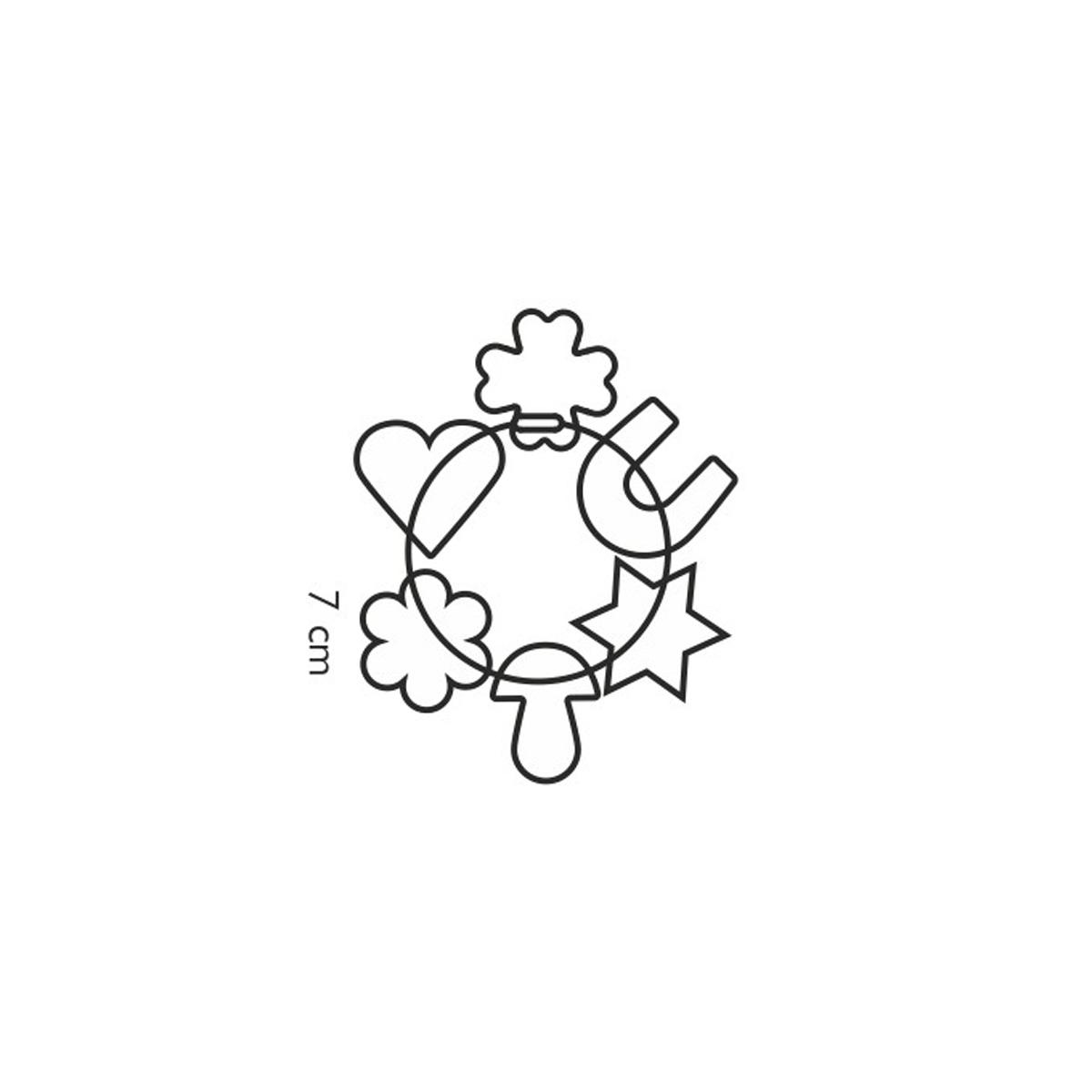 Vykrajovátka na kroužku DELÍCIA, 6 ks