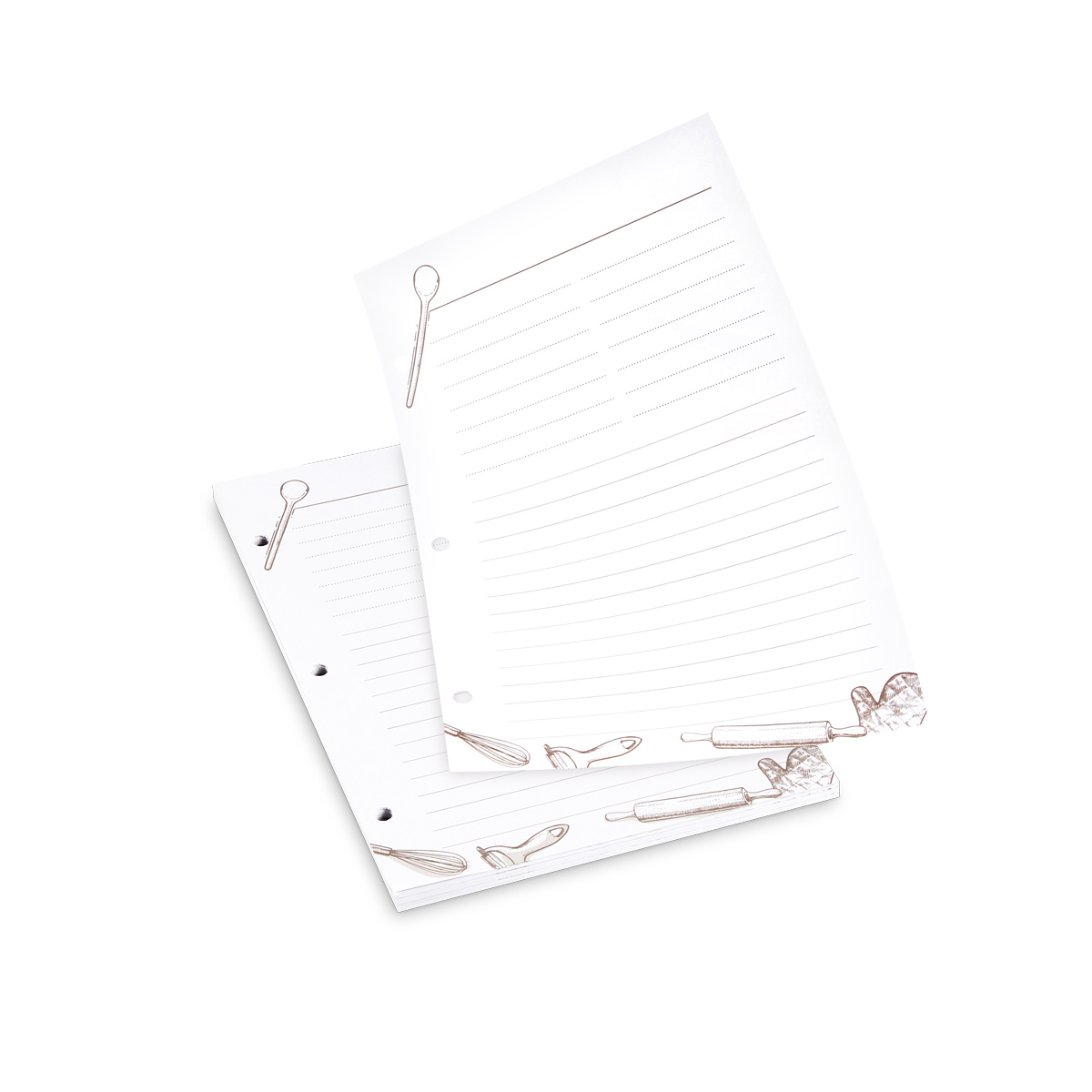 Listy do zápisníku rodinných receptů DELÍCIA, 50 ks