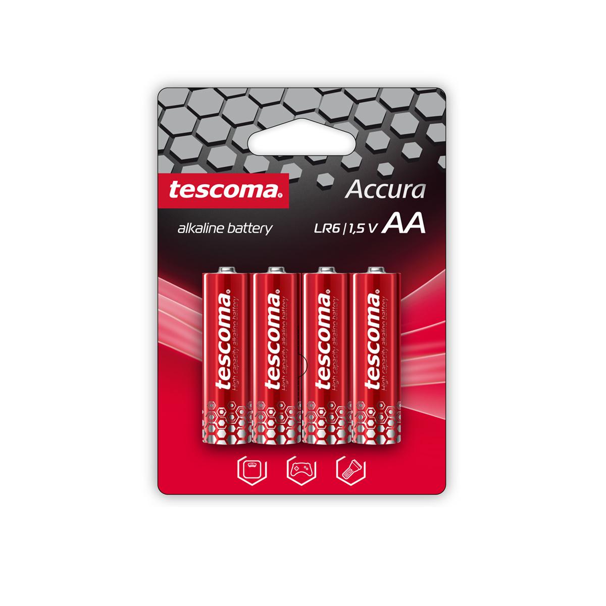 Alkalická AA baterie ACCURA, 4 ks